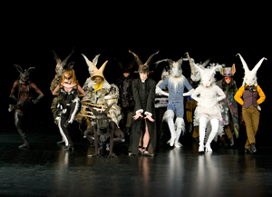 The dancers perform 'Homage to the Rabbits'