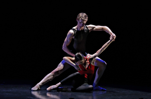 Rachael Walsh and Keian Langdon of QLD Ballet perform 'SYNC' (from …with attitude 2009)