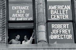 Gerald Arpino and Robert Joffrey at the American Ballet Center