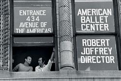 Gerald Arpino and Robert Joffrey at the American Ballet Center