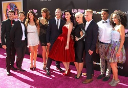 dancer Lockhart Brownlie with Katy Perry and dancers