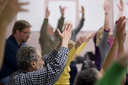 Dance class at Hubbard Street Dance Chicago Parkinson's Project