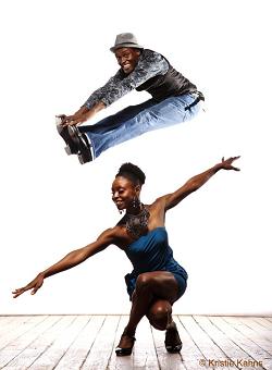 Tap dancers Joseph Wiggan and Josette Wiggan