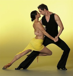 Mitch Bilic and Ellicia McDonald dancing together