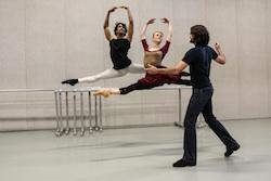 Sasha Janes leads 'Rhapsodic Dances' rehearsal