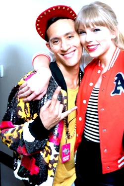 Taylor Swift with Antony Ginandjar of The Squared Division
