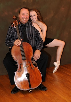 Cellist and dancer