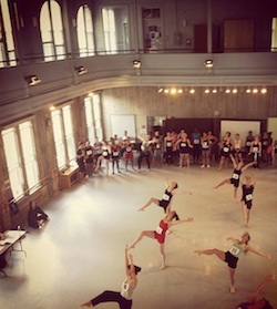 Class at American Dance Festival