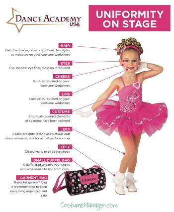 Dancewear and costume needs