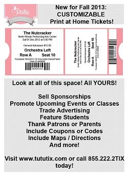 Print-at-home dance recital tickets.