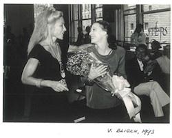 Carol Paumgarten with Maya Plisetskaya