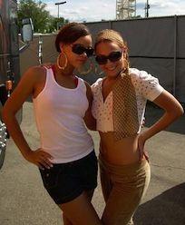 Dana Foglia with singer Rihanna.