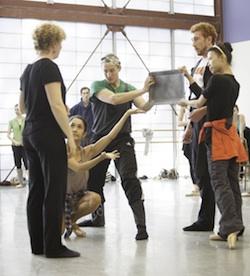 Helen Pickett leads rehearsal