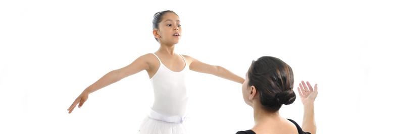 dance teacher and student