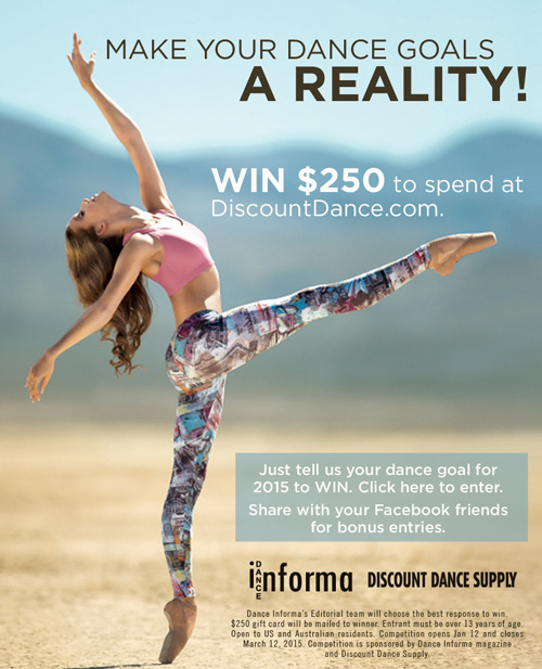 Win dance wear and shoes.