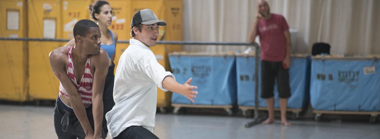 Jacob Jonas in rehearsal