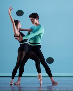 Cassandra Trenary and Sterling Baca of American Ballet Theatre in Joshua Beamish's Surface Properties