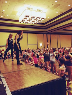Meghan Sanett teaching at Tremaine Dance Conventions