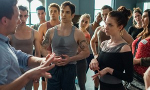 Claire played by Sarah Hay, Choreographer Matthew Powell, and Ross played by Sascha Radetsky from Flesh and Bone