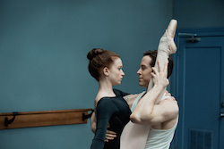 Claire played by Sarah Hay and Ross played by Sascha Radetsky from 'Flesh and Bone'.
