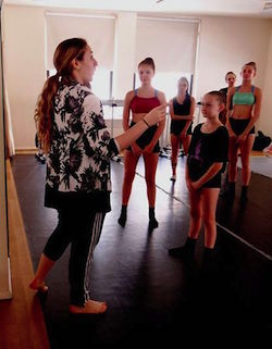 Emily Bufferd teaching at Joffrey Ballet School Summer Intensive