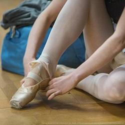 Sarah Hay wears Capezio pointe shoes