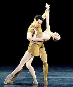 Sascha Radetsky and Julie Kent in Twyla Tharp's 'Brahms-Haydn Variations'