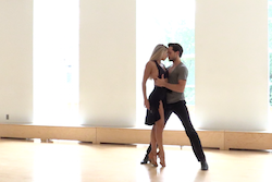 Screen Shot from 'Let it Go'. Choreographed by Lauren Adams. Dancers Daniella and Pasha