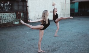 Jaycee Wilkins and Tate McRae shot an improv video in LA for their YouTube channel, JT Series. Photo courtesy of McRae.