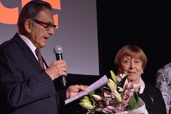 Oleg Briansky and Mireille Briane received the 'Educational Visionary' award on November 13. Photo by Bill Massey.