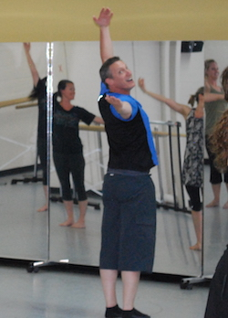 Vincas Greene teaching Brenau University dance students. Photo courtesy of Greene