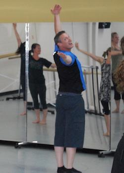 Vincas Greene teaching Brenau University dance students. Photo courtesy of Greene