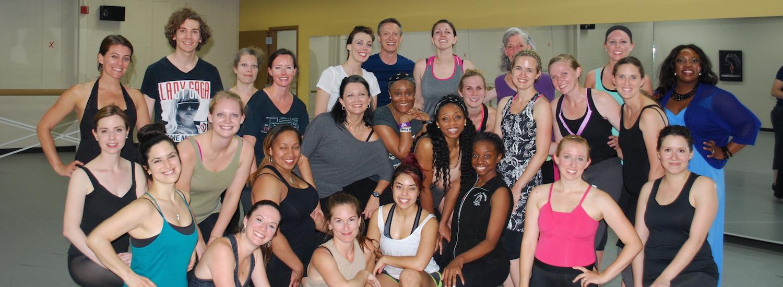 Vincas Greene with Brenau University dance students. Photo courtesy of Greene