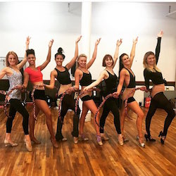 First day of rehearsals for the first national tour of 'Bullets Over Broadway'. Photo courtesy of Mary Callahan.