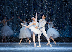 Ashley Ellis and Lasha Khozashvili in Mikko Nissinen's 'The Nutcracker'. Photo by Rosalie O'Connor.