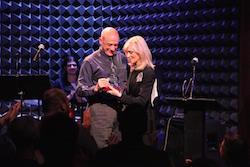 BC/EFA Executive Director Tom Viola Accepting the Howard Ashman Award. Photo courtesy of BC/EFA.