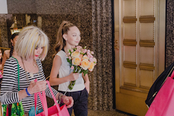 Betsey Johnson and Maddie Ziegler after an in-store event for Capezio. Photo courtesy of Capezio.