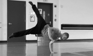 Chris Bloom in rehearsal. Photo by Madeline Campisano