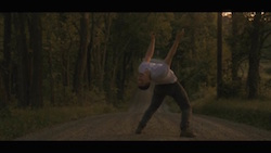 Dancer Chris Bloom in the music video for 'Black and White Pages'. Photo courtesy of Patrick Mason