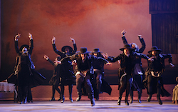 Jacob Guzman, Sarah Parker, Reed Luplau, Brandt Martinez, Marla Phelan, Eric Bourne, Jesse Kovarsky in 'Fiddler on the Roof'. Photo by Joan Marcus.