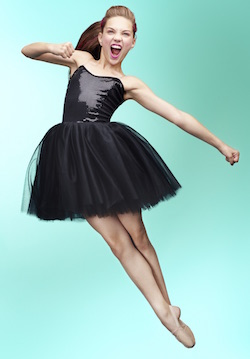 Maddie Ziegler in Betsey Johnson for Capezio. Photo courtesy of Capezio