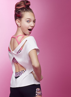 Maddie Ziegler in Betsey Johnson for Capezio.Photo courtesy of Capezio.