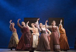 Melanie Moore (center) in 'Fiddler on the Roof'. Photo by Joan Marcus.