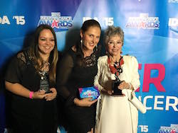 Tonya Goodwillie and Tiffany with Rita Moreno at the 2015 Industry Dance Awards. Photo courtesy of Goodwillie.