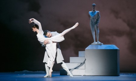 Hannah Fischer and Piotr Stanczyk in The Winter's Tale