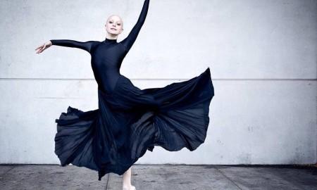 Maggie Kudirka, aka the Bald Ballerina. Photo By Luis Pons