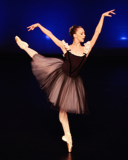 Maria Kowroski in 'Mozartiana' by George Balanchine. Photo by Erin Baiano.