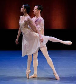 Stella Abrera and Sascha Radetsky in 'Leaves are Fading' by Antony Tudor. Photo by Cherylynn Tsushima.