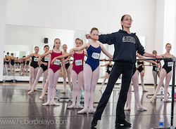 Joffrey Ballet School's Jo Matos teaching. Photo by Heber Pelayo