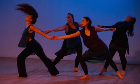 Kelley Donovan and Dancers in 'The Body Becomes The Messenger'. Photo by Charles Daniels Photography.